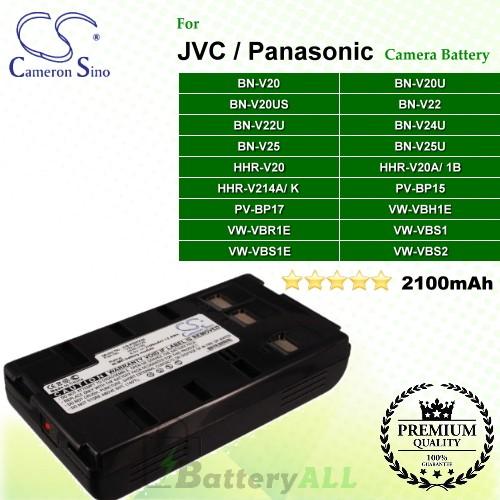 CS-PDHV20 For JVC Camera Battery Model BN-V20 / BN-V20U / BN-V20US / BN-V22 / BN-V22U / BN-V24U / BN-V25 / BN-V25U