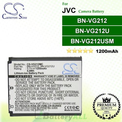 CS-VG212MC For JVC Camera Battery Model BN-VG212 / BN-VG212U / BN-VG212USM