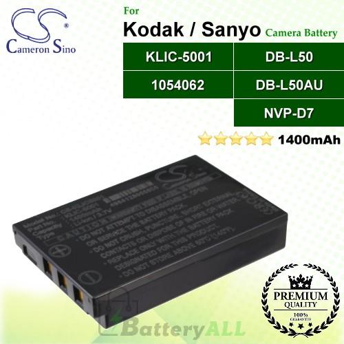 CS-KLIC5001 For Kodak Camera Battery Model 1054062 / KLIC-5001