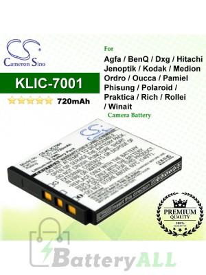 CS-KLIC7001 For Kodak Camera Battery Model KLIC-7001