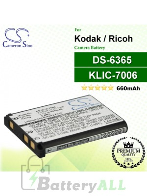 CS-KLIC7006 For Kodak Camera Battery Model KLIC-7006 / LB-012