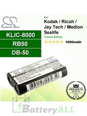 CS-KLIC8000 For Kodak Camera Battery Model KLIC-8000 / RB50