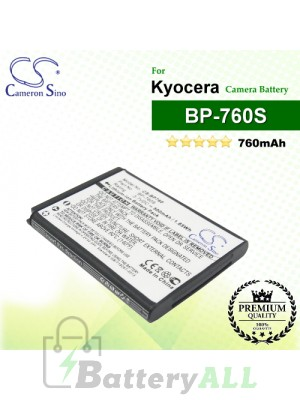 CS-BP760 For Kyocera Camera Battery Model BP-760S