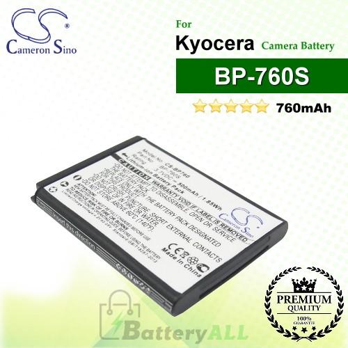 CS-BP760 For Kyocera Camera Battery Model BP-760S