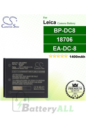 CS-LDC8MC For Leica Camera Battery Model 18706 / BP-DC8 / EA-DC-8