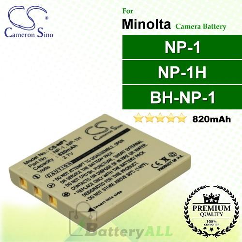 CS-NP1 For Minolta Camera Battery Model MBH-NP-1 / NP-1 / NP-1H