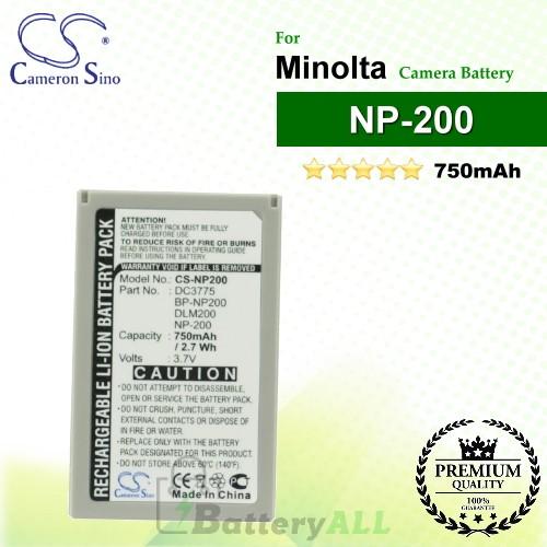 CS-NP200 For Minolta Camera Battery Model NP-200