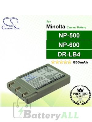CS-NP500 For Minolta Camera Battery Model NP-500 / NP-600
