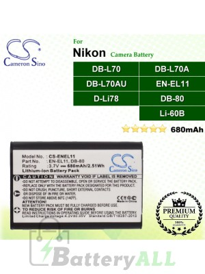 CS-ENEL11 For Nikon Camera Battery Model EN-EL11