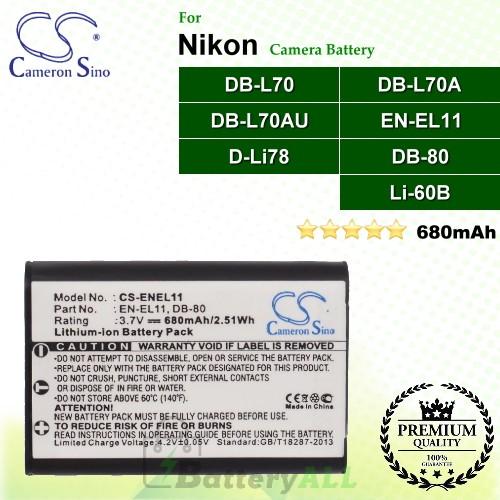 CS-ENEL11 For Nikon Camera Battery Model EN-EL11