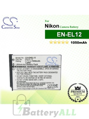 CS-ENEL12 For Nikon Camera Battery Model EN-EL12