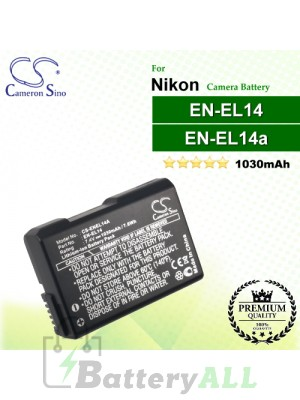 CS-ENEL14A For Nikon Camera Battery Model EN-EL14