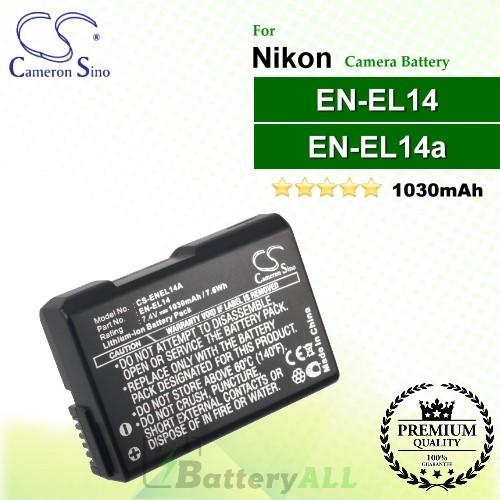 CS-ENEL14A For Nikon Camera Battery Model EN-EL14