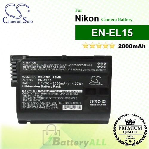 CS-ENEL15MH For Nikon Camera Battery Model EN-EL15