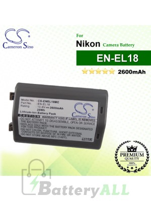 CS-ENEL18MC For Nikon Camera Battery Model EN-EL18