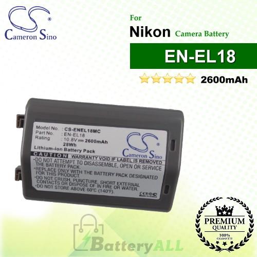 CS-ENEL18MC For Nikon Camera Battery Model EN-EL18