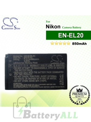 CS-ENEL20 For Nikon Camera Battery Model EN-EL20