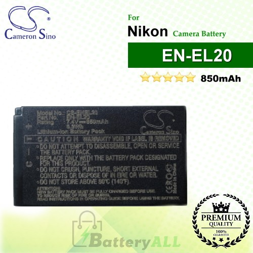 CS-ENEL20 For Nikon Camera Battery Model EN-EL20