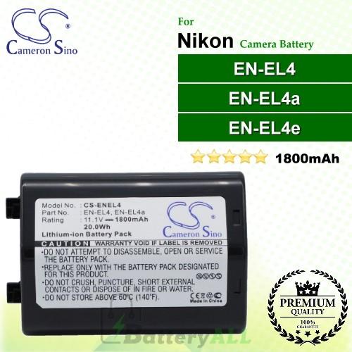 CS-ENEL4 For Nikon Camera Battery Model EN-EL4 / EN-EL4a / EN-EL4e