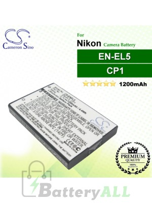 CS-ENEL5 For Nikon Camera Battery Model CP1 / EN-EL5