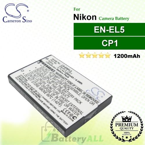 Coolpix P510 Coolpix P5000 CP1 Coolpix 5900 Premium Battery for NIKON EN-EL5