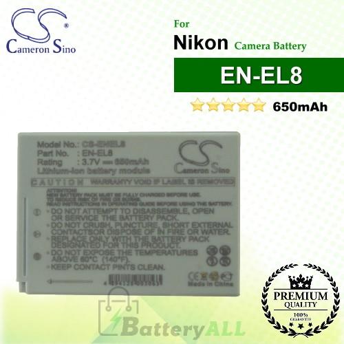 CS-ENEL8 For Nikon Camera Battery Model EN-EL8