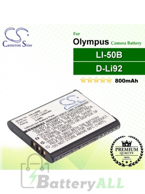 CS-LI50B For Olympus Camera Battery Model LI-50B
