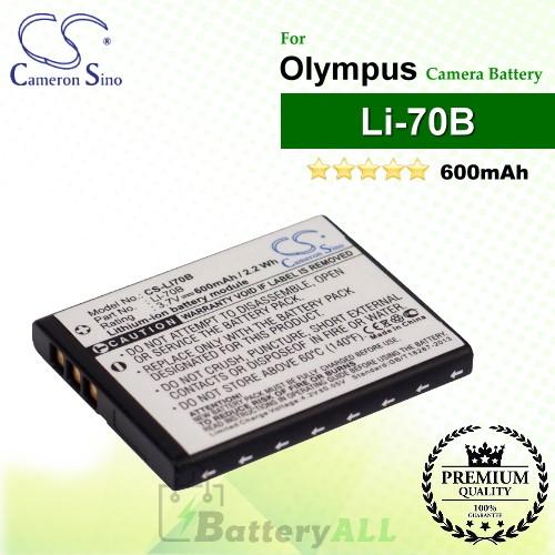 CS-LI70B For Olympus Camera Battery Model Li-70B