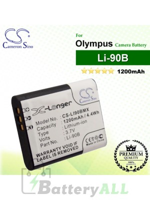 CS-LI90BMX For Olympus Camera Battery Model Li-90B / LI-92B