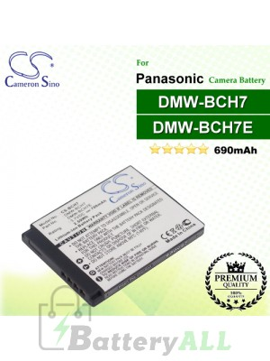 CS-BCH7 For Panasonic Camera Battery Model DMW-BCH7 / DMW-BCH7E / DMW-BCH7G / DMW-BCH7GK / DMW-BCH7PP