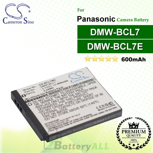CS-BCL7MC For Panasonic Camera Battery Model DMW-BCL7 / DMW-BCL7E