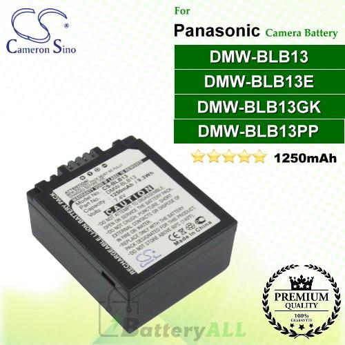 CS-BLB13 For Panasonic Camera Battery Model DMW-BLB13 / DMW-BLB13E / DMW-BLB13GK / DMW-BLB13PP