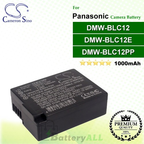 CS-BLC12MX For Panasonic Camera Battery Model DMW-BLC12 / DMW-BLC12E / DMW-BLC12GK / DMW-BLC12PP