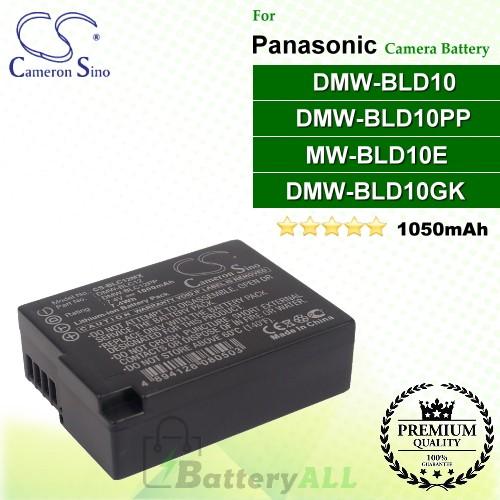 CS-BLD10MX For Panasonic Camera Battery Model DMW-BLD10 / DMW-BLD10E / DMW-BLD10GK / DMW-BLD10PP