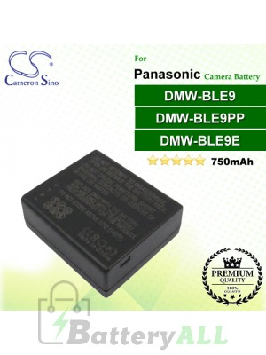CS-BLE9MC For Panasonic Camera Battery Model DMW-BLE9 / DMW-BLE9E / DMW-BLE9PP
