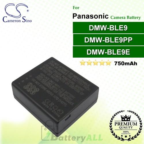 CS-BLE9MC For Panasonic Camera Battery Model DMW-BLE9 / DMW-BLE9E / DMW-BLE9PP