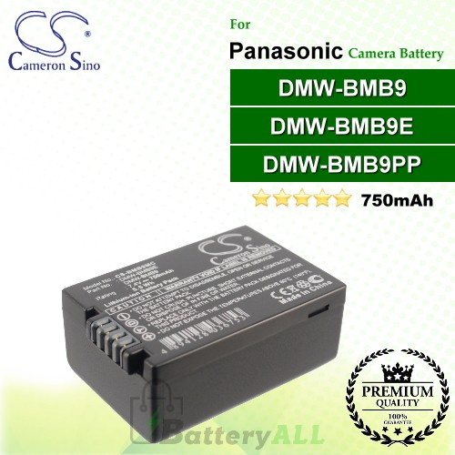 CS-BMB9MC For Panasonic Camera Battery Model DMW-BMB9 / DMW-BMB9E