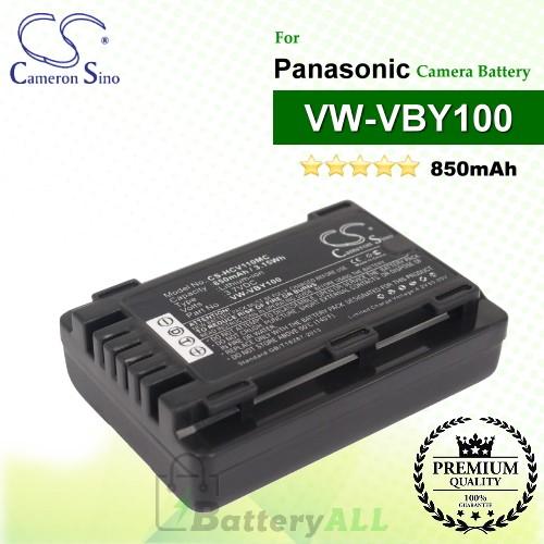 CS-HCV110MC For Panasonic Camera Battery Model VW-VBY100
