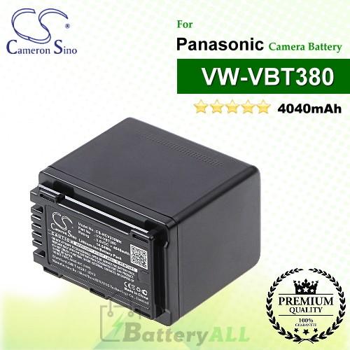 CS-HCV310MH For Panasonic Camera Battery Model VW-VBT380