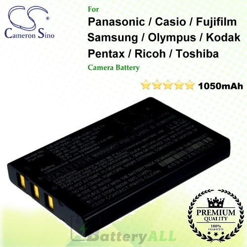 CS-NP60FU For Panasonic Camera Battery Model CGA-S301 / CGA-S301A1 / CGA-S302A / CGA-S302A/1B / CGA-S302E/1B / SV-AV10-A / SV-AV10-R / SV-AV10-S / SV-AV20U / VW-VBA10 / VW-VBA12 / VW-VBA20 / VW-VBA21