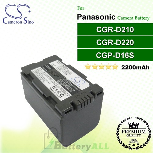 CS-PDR220 For Panasonic Camera Battery Model CGP-D16S / CGR-D210 / CGR-D220