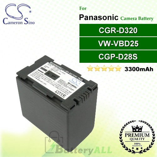 CS-PDR320 For Panasonic Camera Battery Model CGP-D28S / CGR-D320 / VW-VBD25