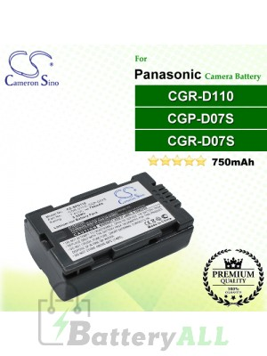 CS-SPD110 For Panasonic Camera Battery Model CGP-D07S / CGR-D11O