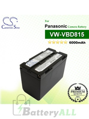 CS-SVBD815 For Panasonic Camera Battery Model VW-VBD815