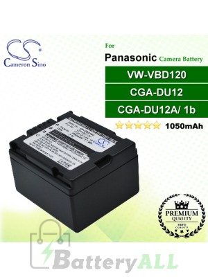 CS-VBD120 For Panasonic Camera Battery Model CGA-DU12 / CGA-DU12A/1B / VW-VBD120