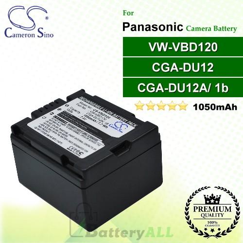 CS-VBD120 For Panasonic Camera Battery Model CGA-DU12 / CGA-DU12A/1B / VW-VBD120