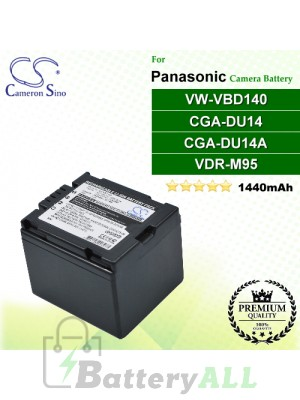 CS-VBD140 For Panasonic Camera Battery Model CGA-DU14 / CGA-DU14A / VDR-M95 / VW-VBD140