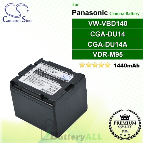 CS-VBD140 For Panasonic Camera Battery Model CGA-DU14 / CGA-DU14A / VDR-M95 / VW-VBD140