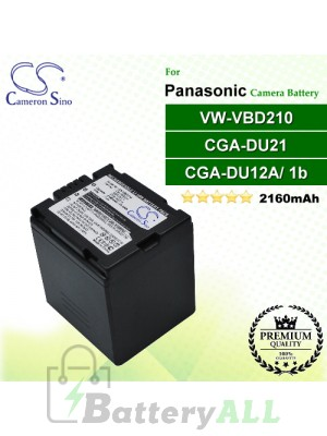 CS-VBD210 For Panasonic Camera Battery Model CGA-DU21 / CGA-DU21A / VW-VBD210