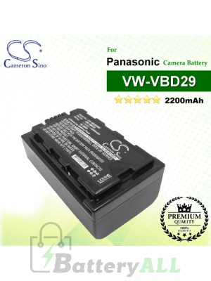 CS-VBD29MC For Panasonic Camera Battery Model VW-VBD29